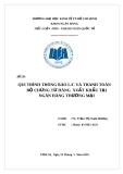 Đề tài: Quy trình thông báo LC và thanh toán bộ chứng từ hàng xuất khẩu tại ngân hàng thương mại