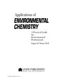 Ebooks: The Applications of Environmental Chemistry: A Practical Guide for Environmental Professionals - Chpater 1