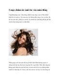5 mẹo chăm sóc mái tóc vào mùa đông