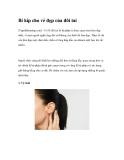 Bí kíp cho vẻ đẹp của đôi tai