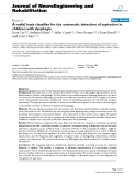 """báo cáo khoa học: """"A radial basis classifier for the automatic detection of aspiration in children with dysphagia"""""""