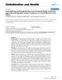 """báo cáo khoa học: """"Local suffering and the global discourse of mental health and human rights: An ethnographic study of responses to mental illness in rural Ghana"""""""