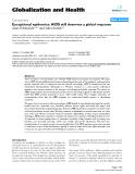 """báo cáo khoa học: """" Exceptional epidemics: AIDS still deserves a global response"""""""