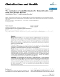 """báo cáo khoa học: """" The implications of trade liberalization for diet and health: a case study from Central America"""""""