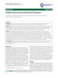 "báo cáo khoa học: "" Health and historical levels of freedom"""