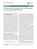 """báo cáo khoa học: """"The hope and the promise of the UN Resolution on non-communicable diseases"""""""