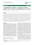 """báo cáo khoa học: """" Is globalization healthy: a statistical indicator analysis of the impacts of globalization on health"""""""