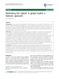 "báo cáo khoa học: ""Rethinking the 'global' in global health: a dialectic approach"""