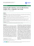 "báo cáo khoa học: ""  Global Health Initiatives and aid effectiveness: insights from a Ugandan case study"""