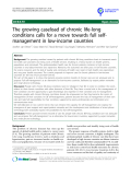 """báo cáo khoa học: """"  The growing caseload of chronic life-long conditions calls for a move towards full selfmanagement in low-income countries"""""""