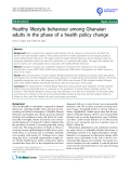 """báo cáo khoa học: """"Healthy lifestyle behaviour among Ghanaian adults in the phase of a health policy change"""""""