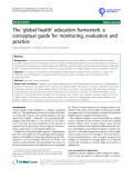 "báo cáo khoa học: ""The 'global health' education framework: a conceptual guide for monitoring, evaluation and practice"""