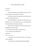 Bài 33: DÒNG ĐIỆN XOAY CHIỀU