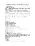 CHƯƠNG 3: CÂN BẰNG VÀ CHUYỂN ĐỘNG CỦA VẬT RẮN