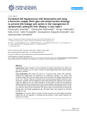 """Báo cáo y học: """"Combined left hepatectomy with fenestration and using a harmonic scalpel, fibrin glue and closed suction drainage to prevent bile leakage and ascites in the management of symptomatic polycystic liver disease: a case report"""""""