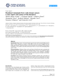 """Báo cáo y học: """" Duodenal metastasis from male breast cancer: a case report and review of the literature"""""""