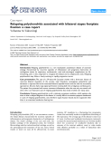 """Báo cáo y học: """" Relapsing polychondritis associated with bilateral stapes footplate fixation: a case report"""""""