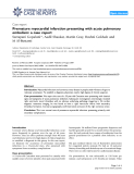 "Báo cáo y học: ""Premature myocardial infarction presenting with acute pulmonary embolism: a case report"""