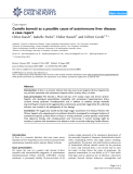 """Báo cáo y học: """" Coxiella burnetii as a possible cause of autoimmune liver disease: a case report"""""""