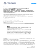 """Báo cáo y học: """" Primary localized laryngeal amyloidosis presenting with hoarseness and dysphagia: a case report"""""""