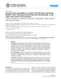 """Báo cáo y học: """" Carcinomatous meningitis in a patient with Her2/neu expressing bladder cancer following trastuzumab and chemotherapy: a case report and review of the literature"""""""
