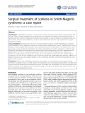 "Báo cáo y học: "" Surgical treatment of scoliosis in Smith-Magenis syndrome: a case report"""