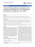 """Báo cáo y học: """" Transient bilateral abducens neuropathy with post-tetanic facilitation and acute hypokalemia associated with oxaliplatin: a case report"""""""