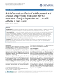 "Báo cáo y học: ""Anti-inflammatory effects of antidepressant and atypical antipsychotic medication for the treatment of major depression and comorbid arthritis: a case report"""