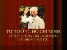 Tư tưởng Hồ Chí Minh về lực lượng của cách mạng giải phóng dân tộc