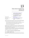 Mechanical Systems Design C13 Semi-Active Suspension
