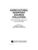 AGRICULTURAL NONPOINT SOURCE POLLUTION: Watershed Management and Hydrology - Chapter 1