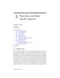 AGRICULTURAL NONPOINT SOURCE POLLUTION: Watershed Management and Hydrology - Chapter 5