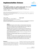 """báo cáo khoa học: """"  The uptake and effect of a mailed multi-modal colon cancer screening intervention: A pilot controlled trial"""""""