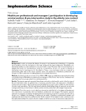 """báo cáo khoa học: """" Healthcare professionals and managers' participation in developing an intervention: A pre-intervention study in the elderly care context"""""""
