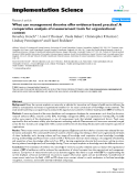 """báo cáo khoa học: """" What can management theories offer evidence-based practice? A comparative analysis of measurement tools for organisational context"""""""