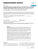 """báo cáo khoa học: """"  Improving clinical research and cancer care delivery in community settings: evaluating the NCI community cancer centers program"""""""