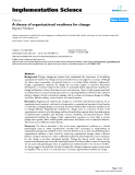 """báo cáo khoa học: """"  A theory of organizational readiness for change"""""""