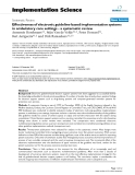 """báo cáo khoa học: """"  Effectiveness of electronic guideline-based implementation systems in ambulatory care settings - a systematic review"""""""