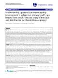"báo cáo khoa học: "" Understanding uptake of continuous quality improvement in Indigenous primary health care: lessons from a multi-site case study of the Audit and Best Practice for Chronic Disease project"""