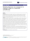 """báo cáo khoa học: """"  Marketing depression care management to employers: design of a randomized controlled trial"""""""