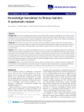 """báo cáo khoa học: """" Knowledge translation to fitness trainers: A systematic review"""""""
