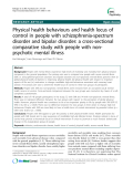 """Báo cáo y học: """"  Physical health behaviours and health locus of control in people with schizophrenia-spectrum disorder and bipolar disorder: a cross-sectional comparative study with people with nonpsychotic mental illness"""""""