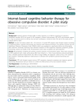 "Báo cáo y học: ""Internet-based cognitive behavior therapy for obsessive compulsive disorder: A pilot study"""