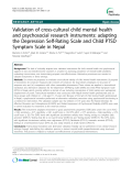 "Báo cáo y học: "" Validation of cross-cultural child mental health and psychosocial research instruments: adapting the Depression"""
