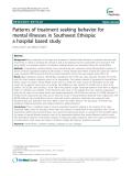 "Báo cáo y học: "" Patterns of treatment seeking behavior for mental illnesses in Southwest Ethiopia: a hospital based study"""