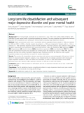 "Báo cáo y học: ""  Long term life dissatisfaction and subsequent major depressive disorder and poor mental health"""