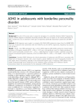 "Báo cáo y học: ""ADHD in adolescents with borderline personality disorder"""