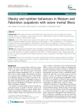 """Báo cáo y học: """"  Obesity and nutrition behaviours in Western and Palestinian outpatients with severe mental illness"""""""