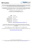 "Báo cáo y học: ""  A randomized controlled pilot study of a brief web-based mindfulness training"""