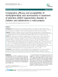 "Báo cáo y học: ""  Comparative efficacy and acceptability of methylphenidate and atomoxetine in treatment of attention deficit hyperactivity disorder in children and adolescents: a meta-analysis"""